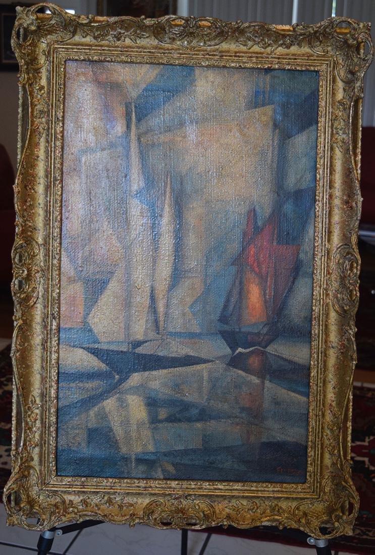 Lyonel Feininger 1871-1956 Cubist Cubism Painting - 9
