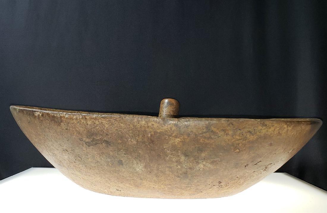 Fine Burled Wood Bowl w/Spoon possibly Native - 2