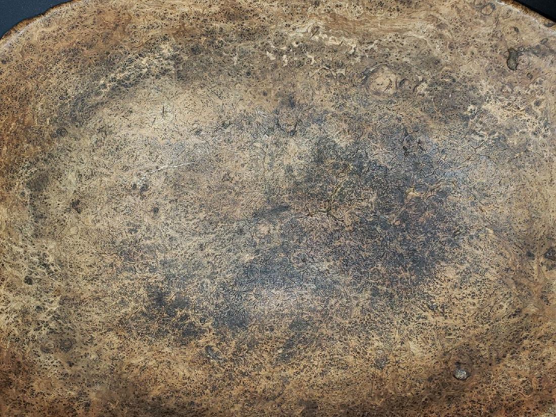 Fine Burled Wood Bowl w/Spoon possibly Native - 5