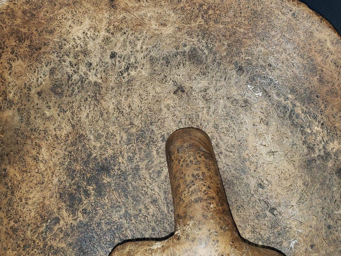 Fine Burled Wood Bowl w/Spoon possibly Native - 8