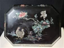 Vintage Japanese MOP inlaid jewel / sewing box