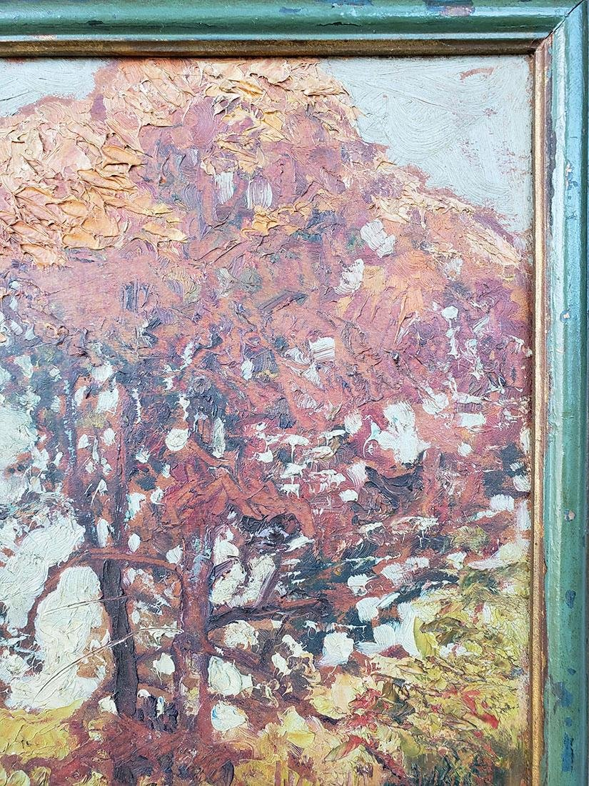 GRANT WOOD (Amer 1891-1942) 1927 Oil autumn landscape - 10