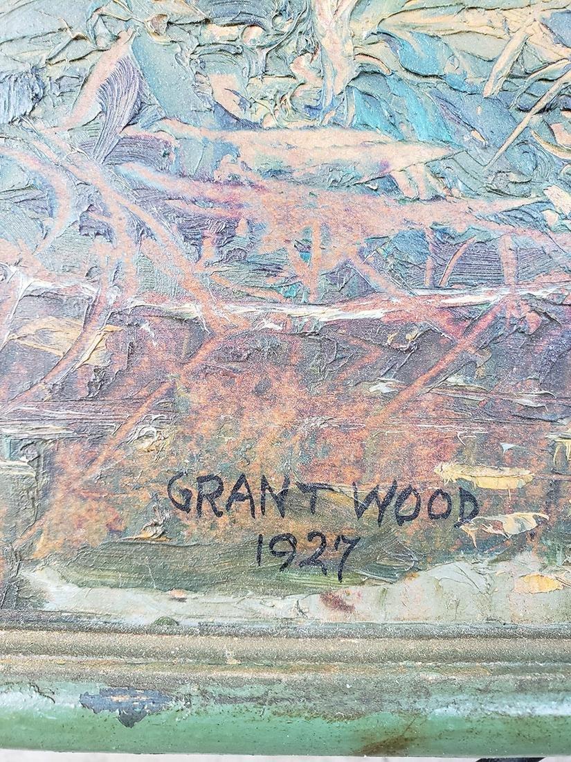 GRANT WOOD (Amer 1891-1942) 1927 Oil autumn landscape - 2