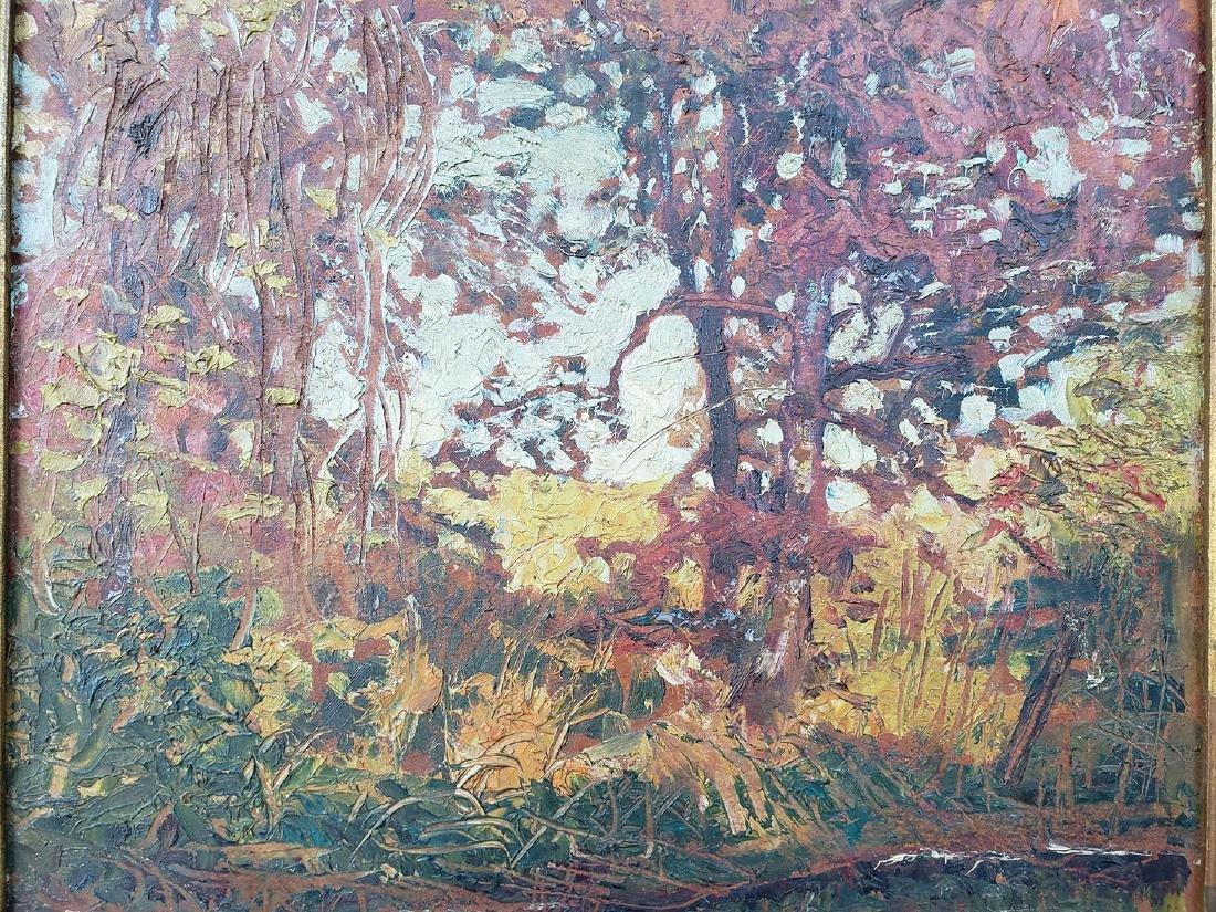 GRANT WOOD (Amer 1891-1942) 1927 Oil autumn landscape - 5