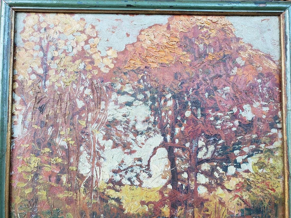 GRANT WOOD (Amer 1891-1942) 1927 Oil autumn landscape - 6