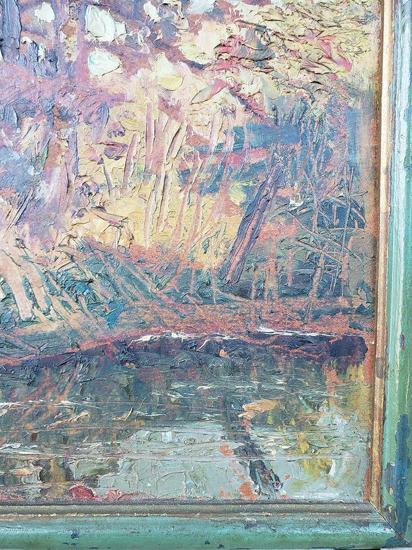 GRANT WOOD (Amer 1891-1942) 1927 Oil autumn landscape - 9