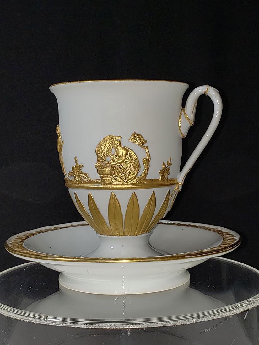 1810-1814 Meissen Teacup & Saucer