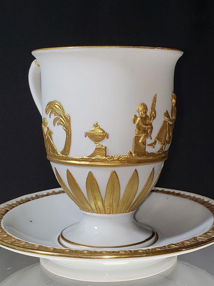1810-1814 Meissen Teacup & Saucer - 3
