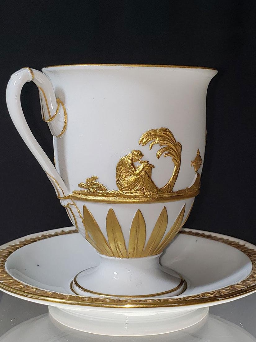 1810-1814 Meissen Teacup & Saucer - 4