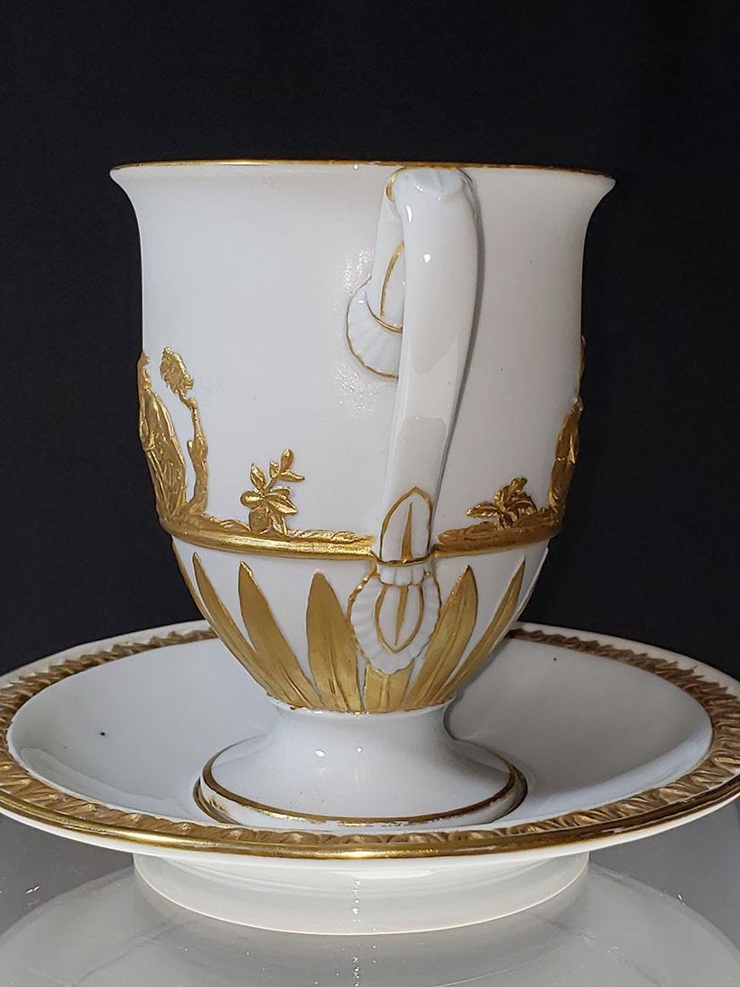 1810-1814 Meissen Teacup & Saucer - 5