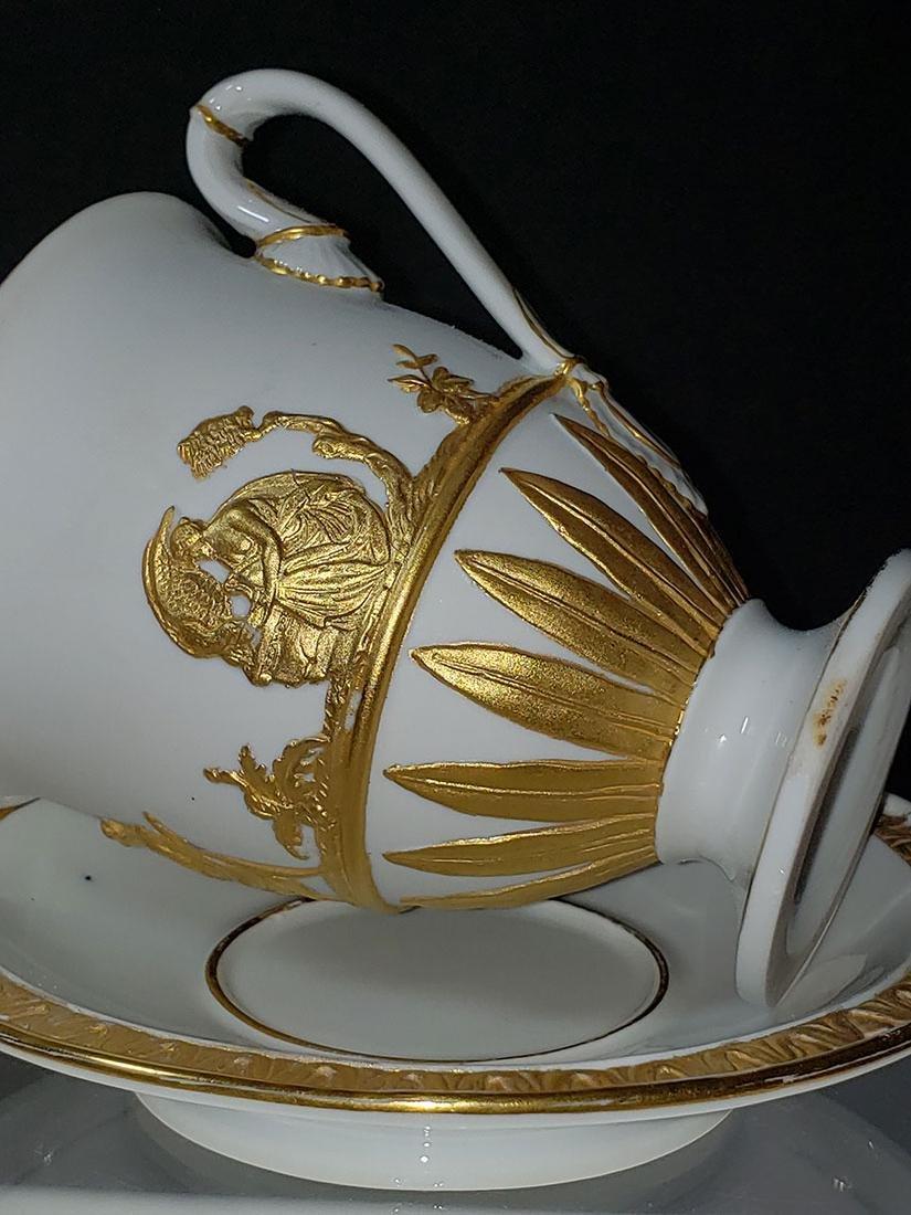 1810-1814 Meissen Teacup & Saucer - 6