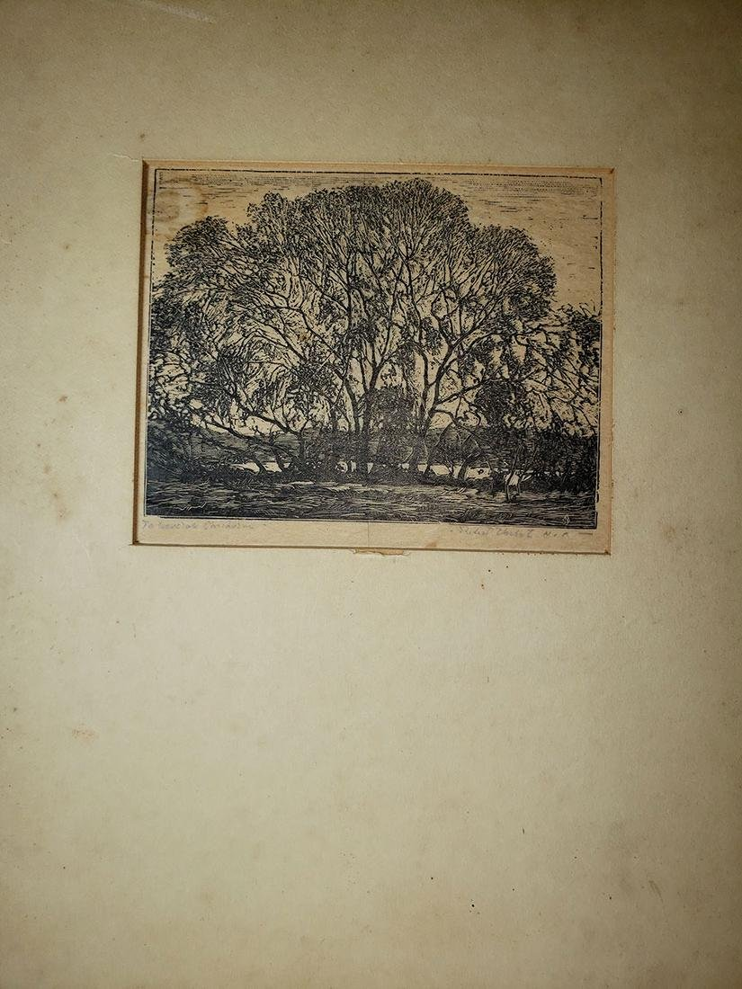 Signed Steel Engraving