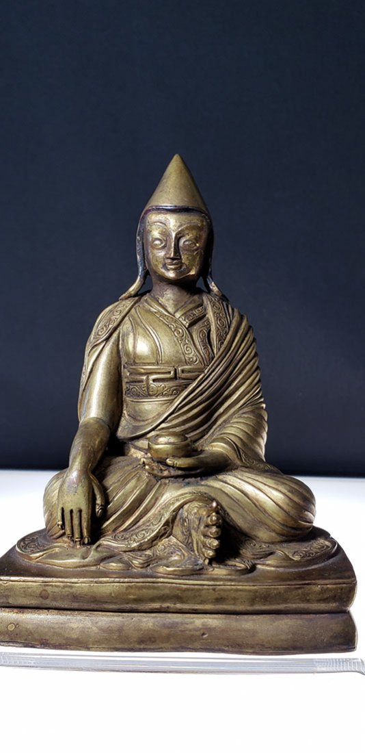 Set of 4 sino gilt bronze buddha lamas 18-19 c - 10