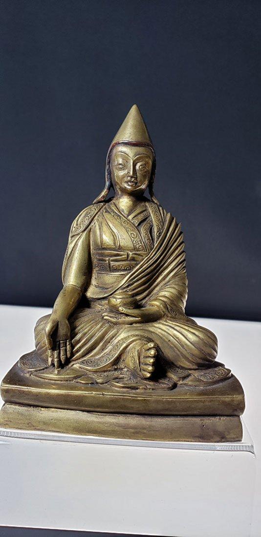 Set of 4 sino gilt bronze buddha lamas 18-19 c - 8
