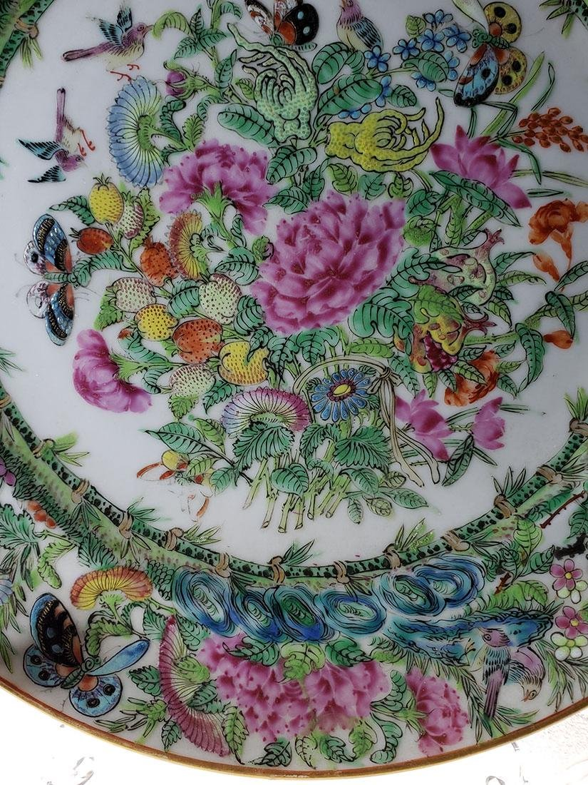 Lot 2 Chinese Export Rose Medallion Plates - 2