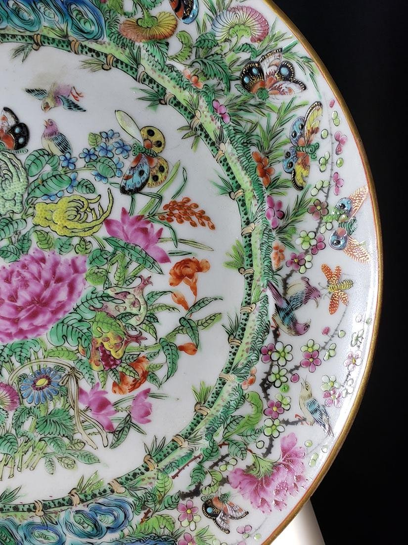 Lot 2 Chinese Export Rose Medallion Plates - 3