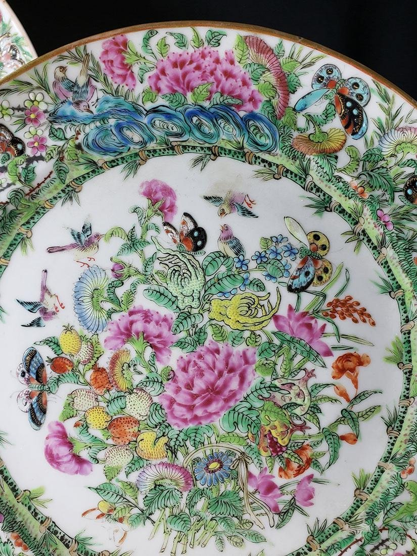 Lot 2 Chinese Export Rose Medallion Plates - 4