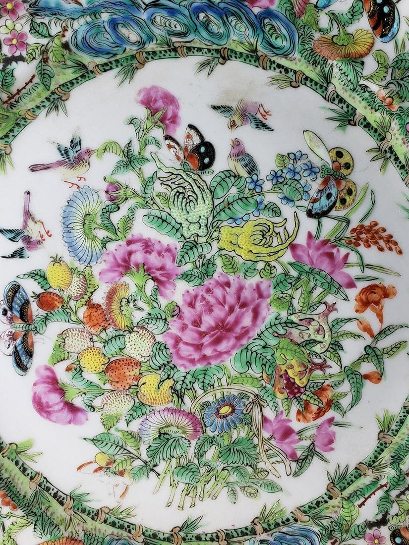 Lot 2 Chinese Export Rose Medallion Plates - 9