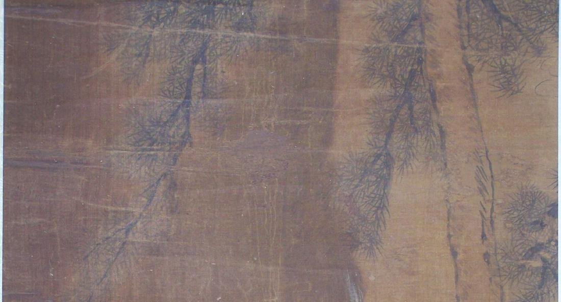 Qing period Chinese silk scroll painting - 10