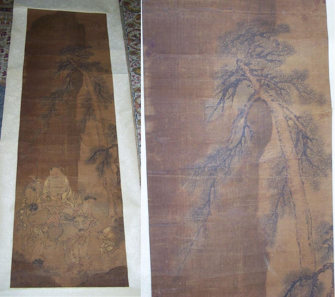 Qing period Chinese silk scroll painting - 3