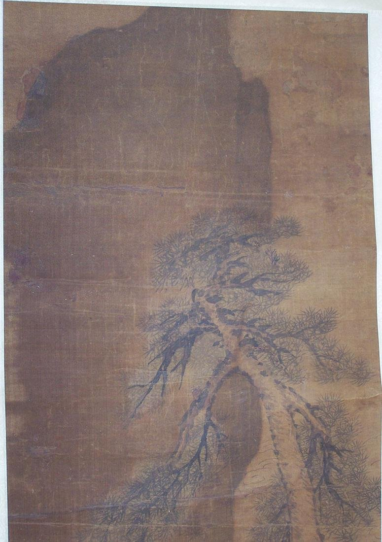 Qing period Chinese silk scroll painting - 5