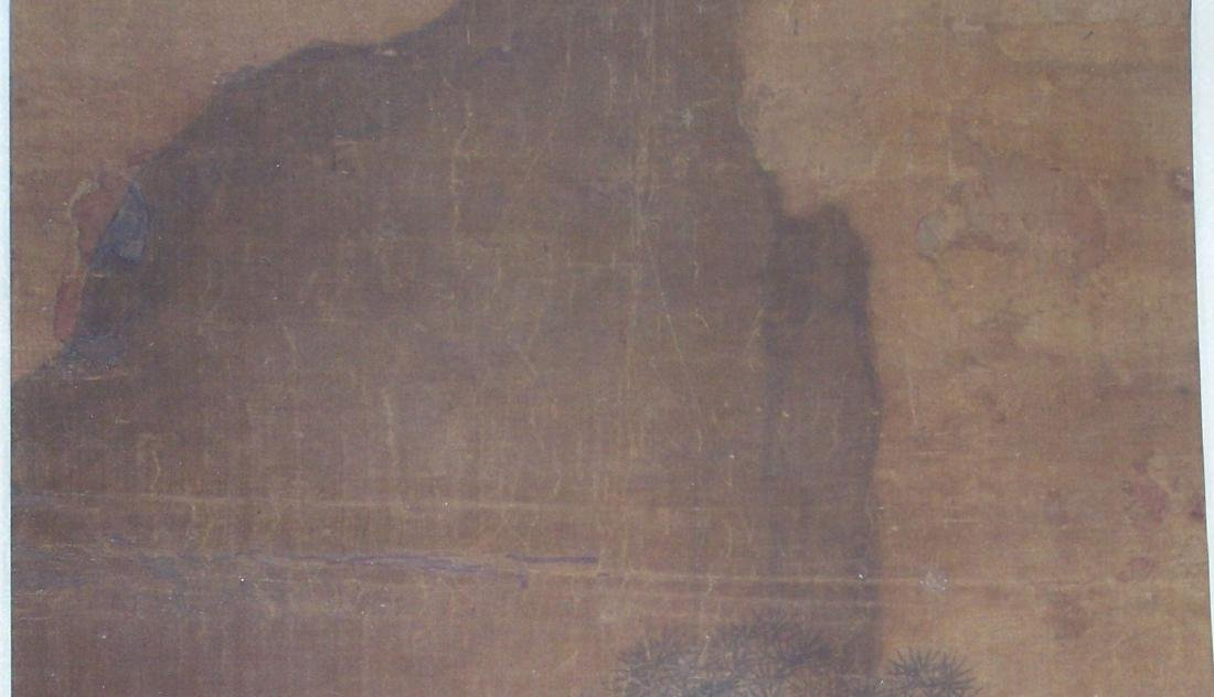 Qing period Chinese silk scroll painting - 6