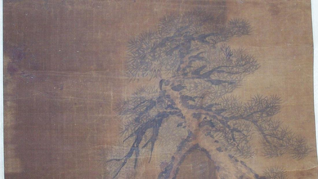 Qing period Chinese silk scroll painting - 7