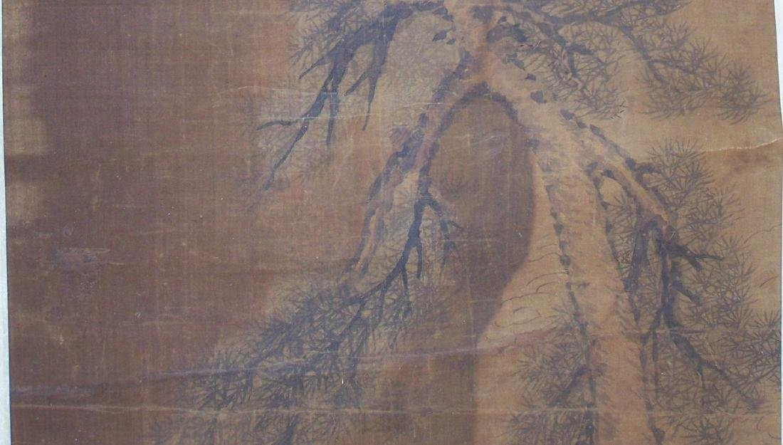 Qing period Chinese silk scroll painting - 8