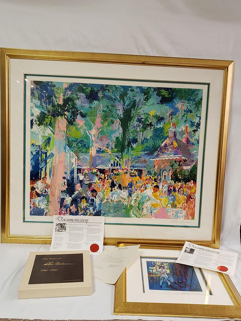 Grouping of Leroy Neiman Serigraph and book Signed