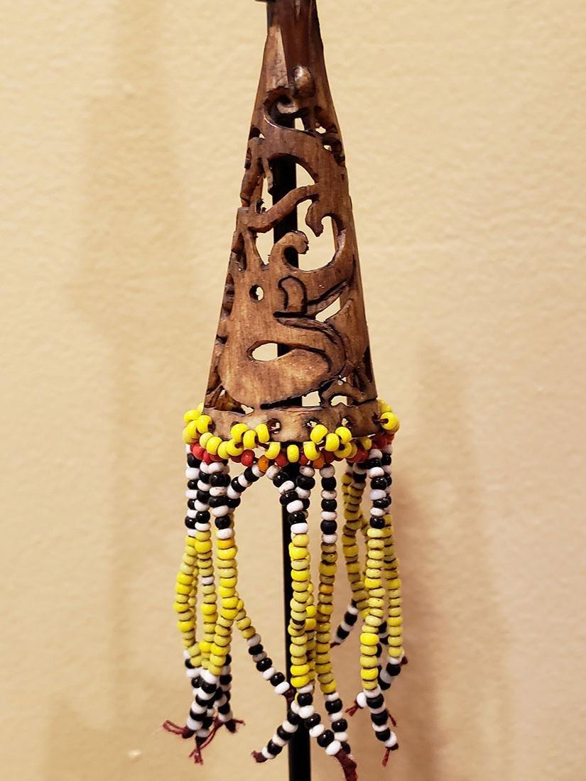 10 rare headhunter earrings Dayak tribe of  Borneo - 4