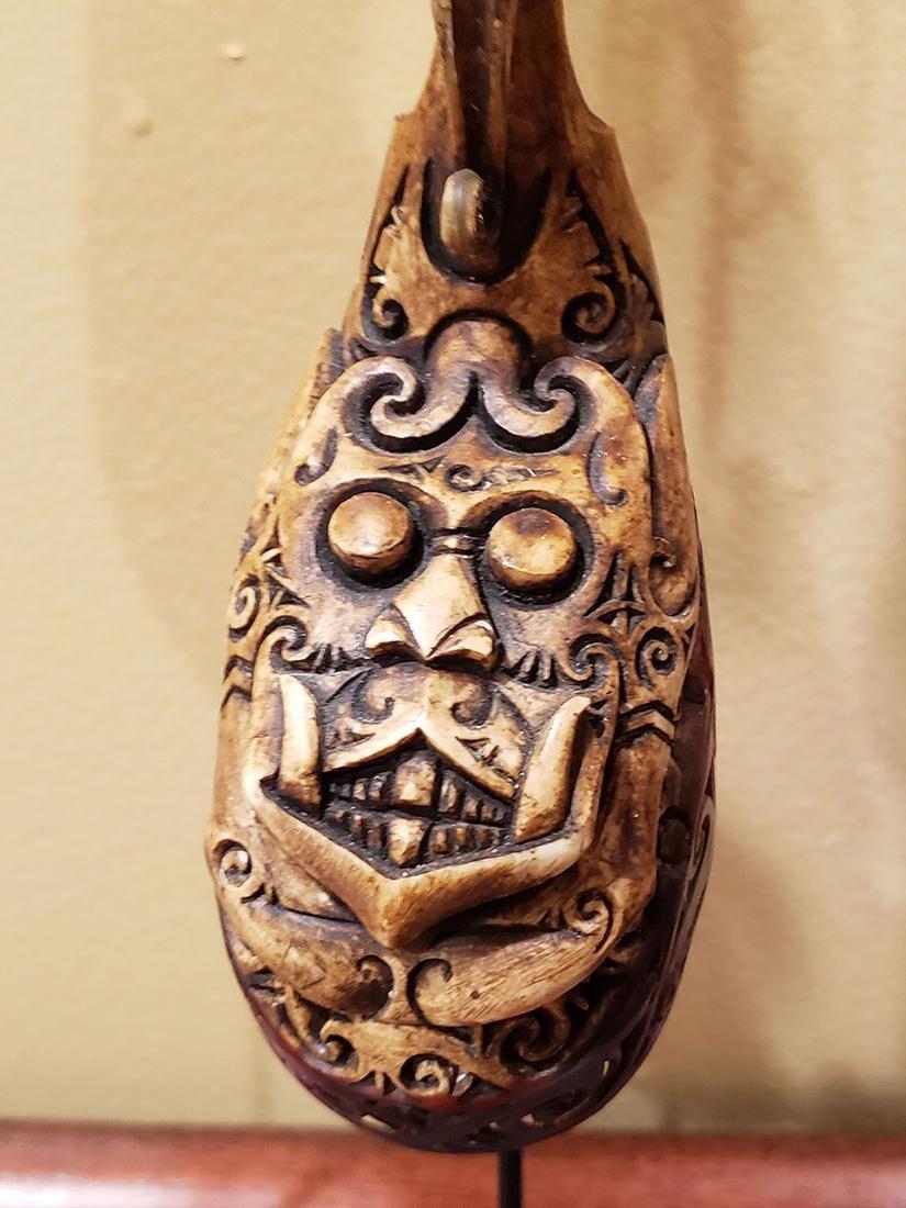 10 rare headhunter earrings Dayak tribe of  Borneo - 5