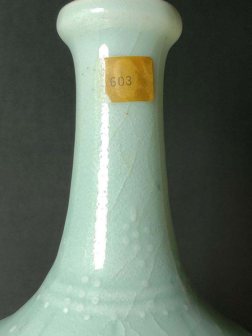 A fine Chinese celadon vase Qianlong Mark - 10