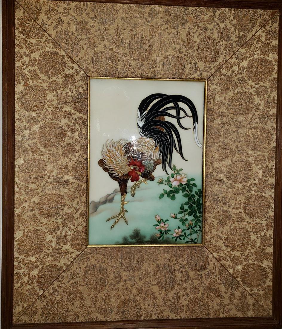 A Magnificent Japanese Cloisonne-Enameled Cockerel