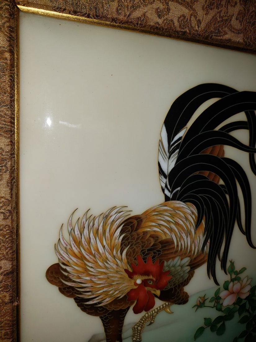 A Magnificent Japanese Cloisonne-Enameled Cockerel - 3