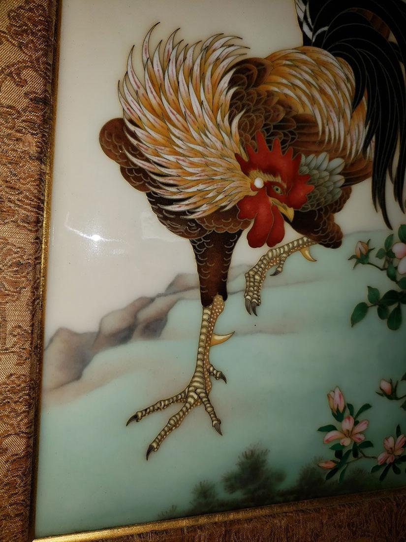 A Magnificent Japanese Cloisonne-Enameled Cockerel - 4