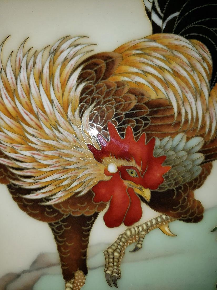 A Magnificent Japanese Cloisonne-Enameled Cockerel - 7