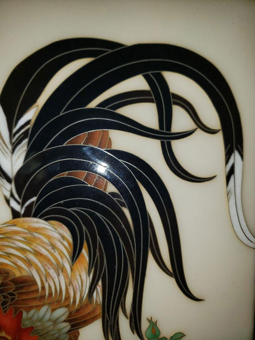 A Magnificent Japanese Cloisonne-Enameled Cockerel - 9