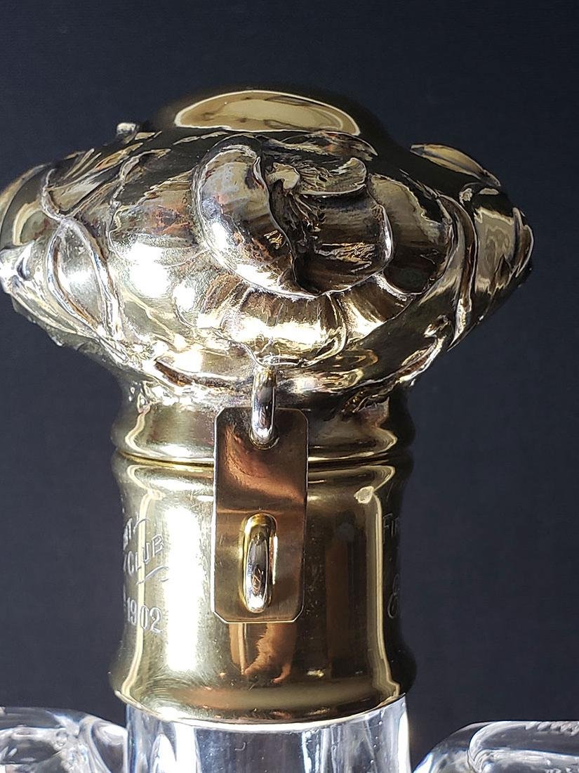 Rare ABP engraved  rock  crystal Yacht Club Trophy - 4