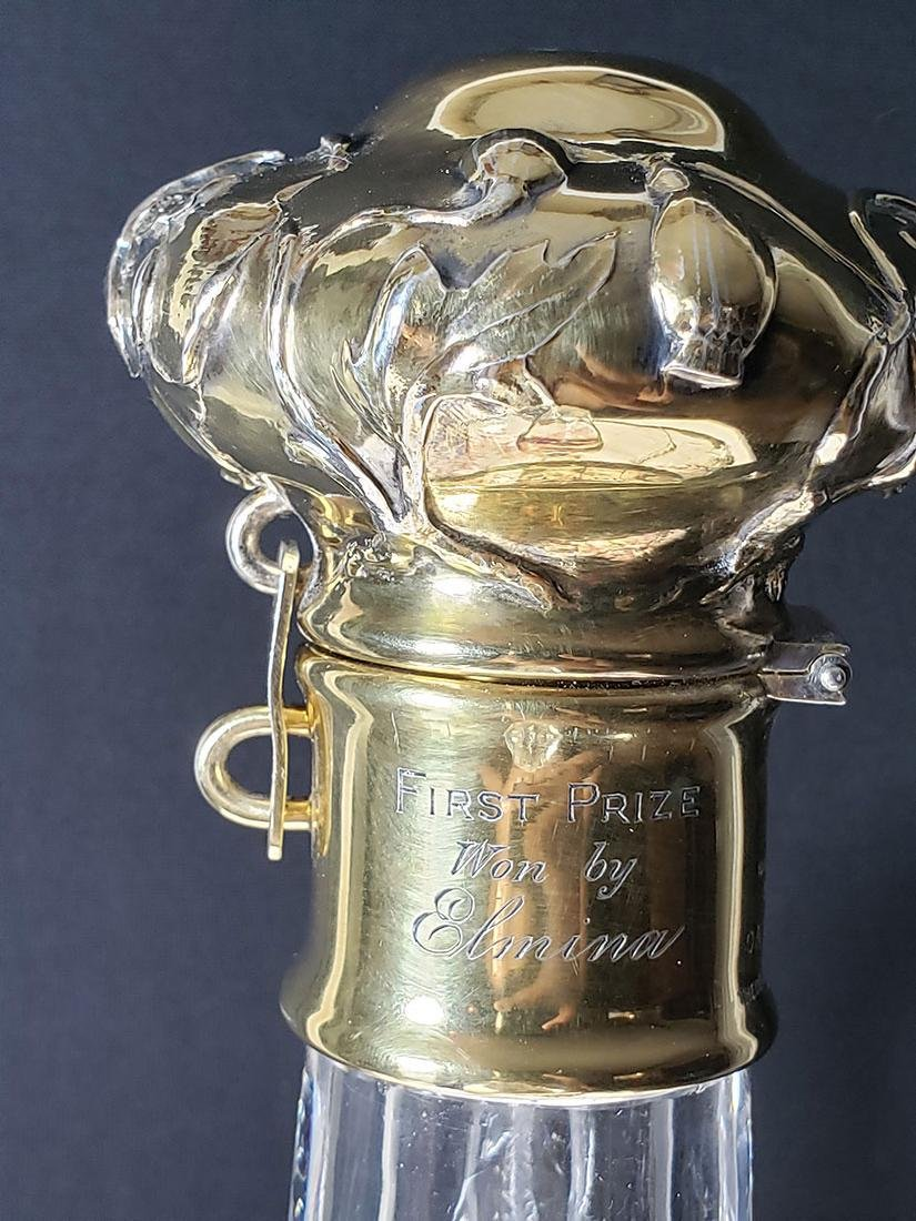 Rare ABP engraved  rock  crystal Yacht Club Trophy - 8
