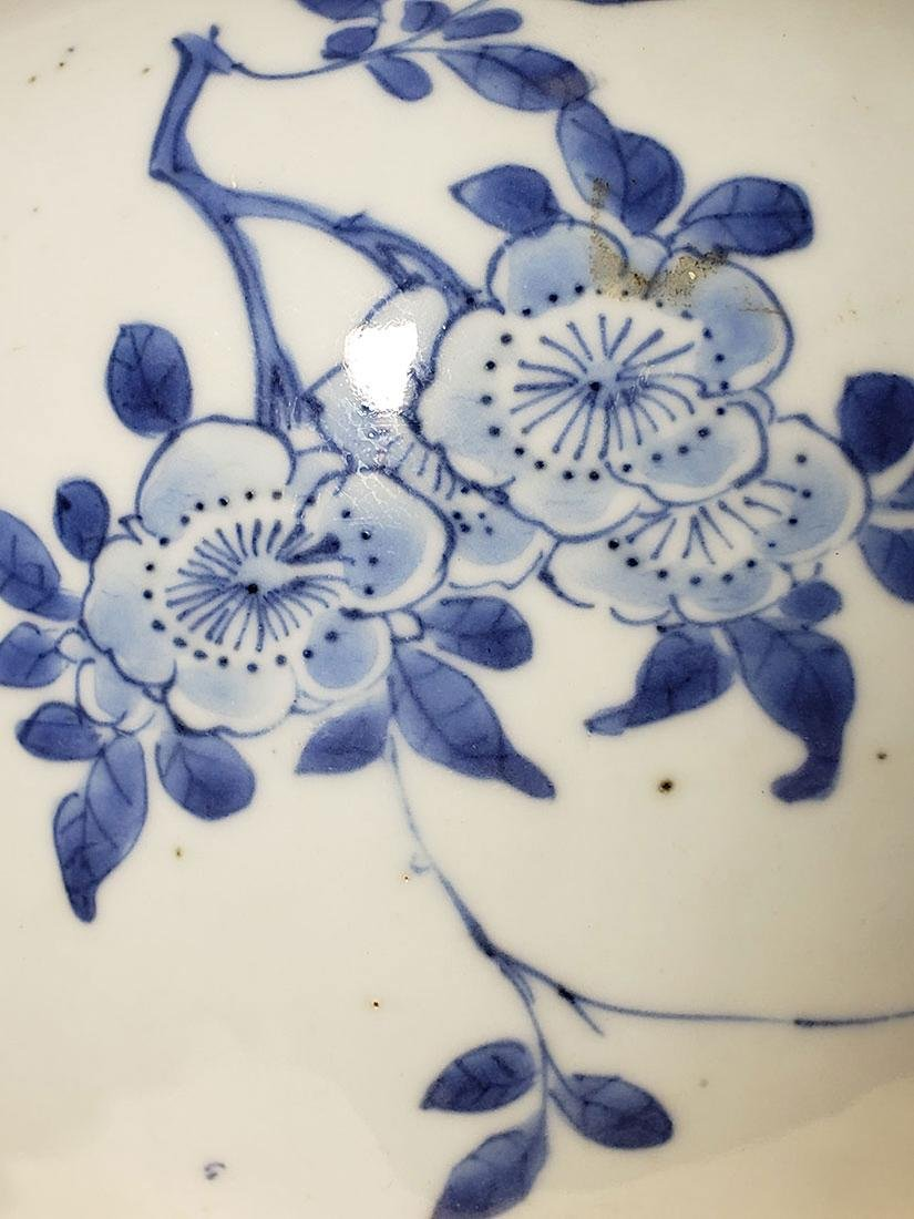 A fine transitional Chinese blue & white vase 1630-1683 - 10