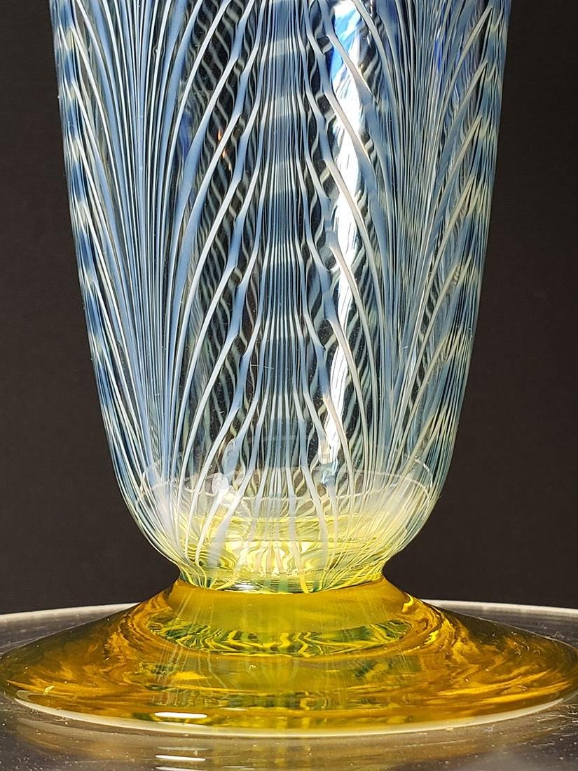A fine Durand pulled feather parfait art glass #1 - 2