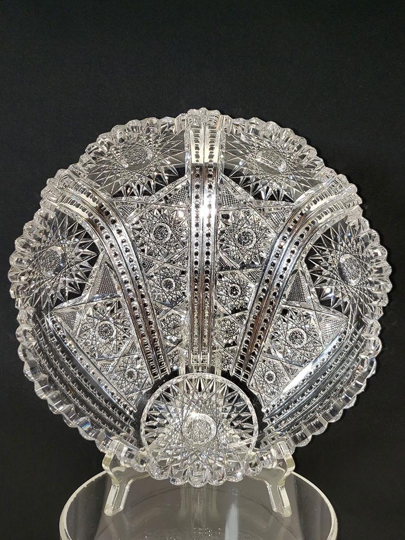 American Brilliant Period  cut glass shell dish