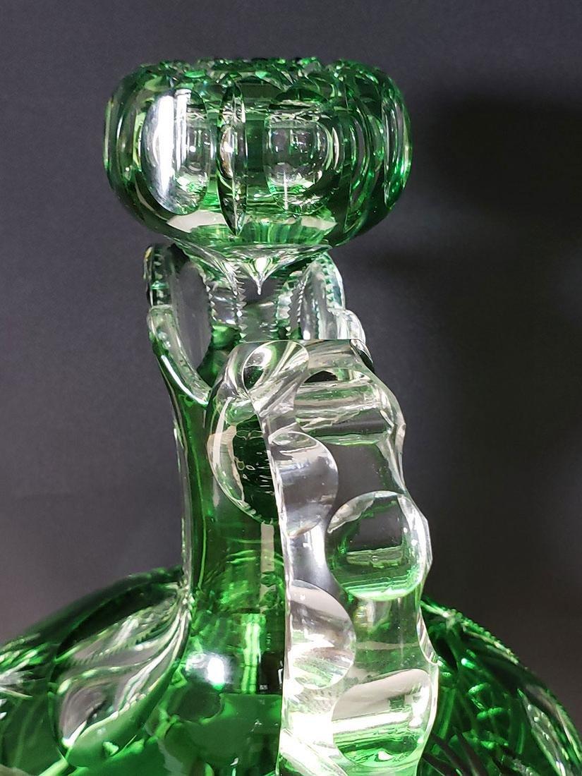American brilliant Pd Dorflinger cut glass decanter - 10