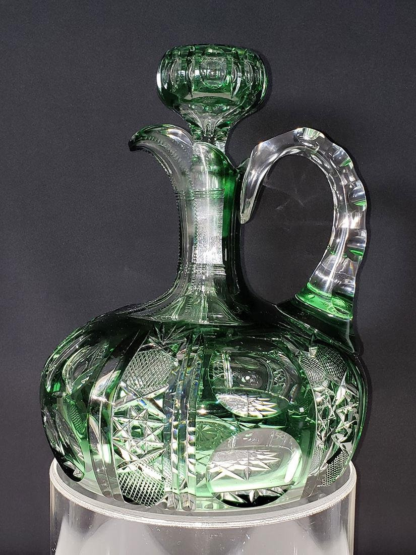 American brilliant Pd Dorflinger cut glass decanter - 2