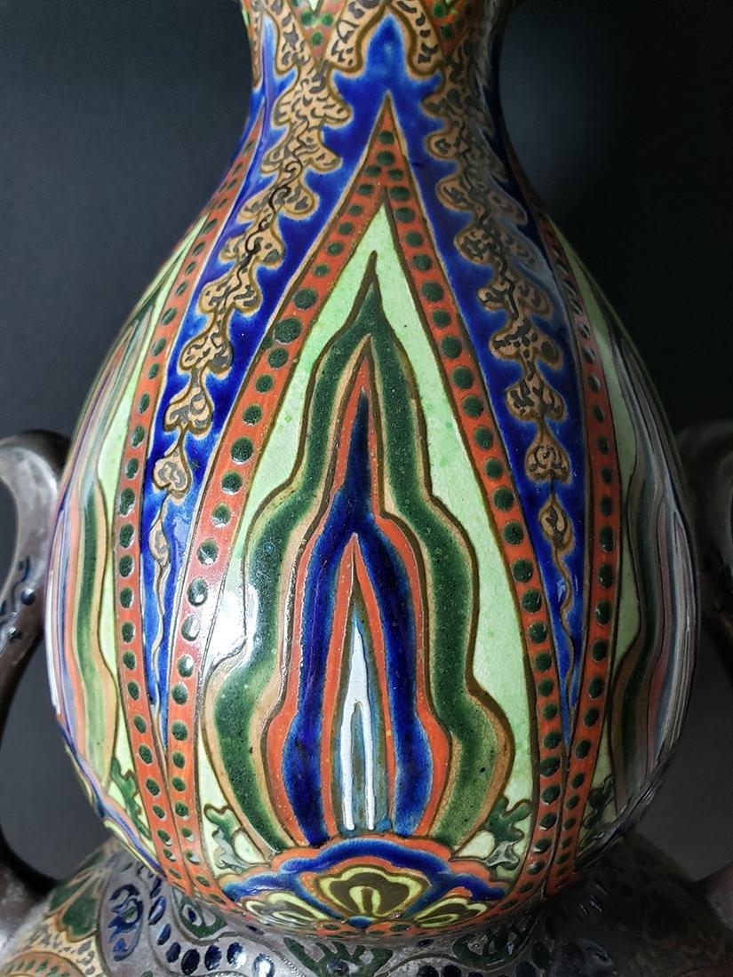 Signed Japanese vase Imperial Meiji artist Kinkozan 19c - 2