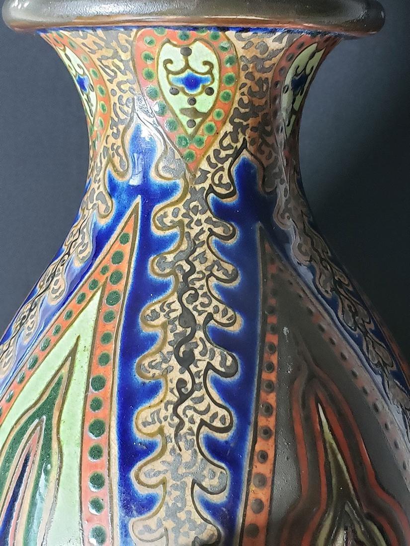 Signed Japanese vase Imperial Meiji artist Kinkozan 19c - 9