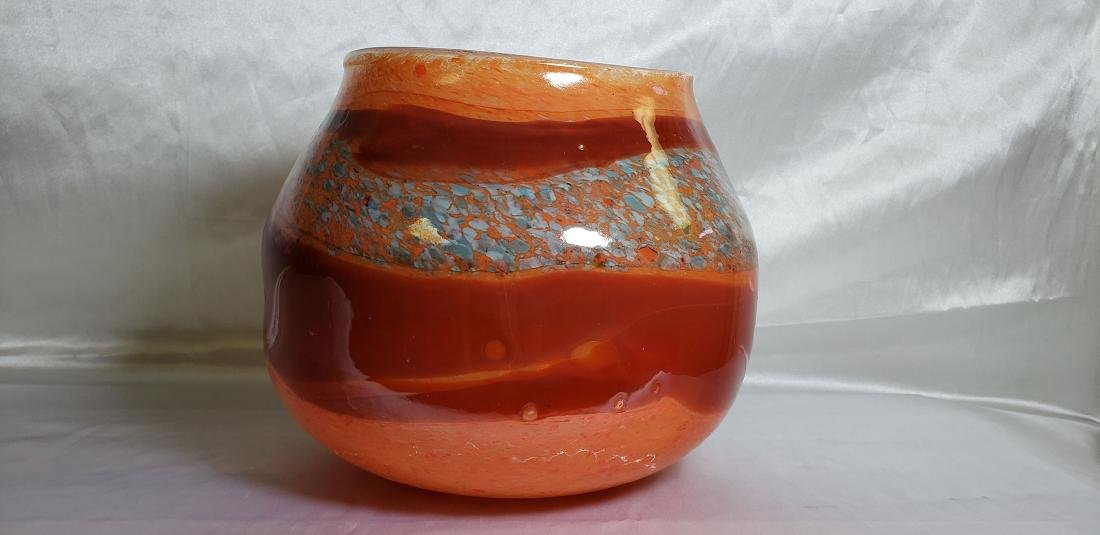 Signed Art Glass Murano Vase