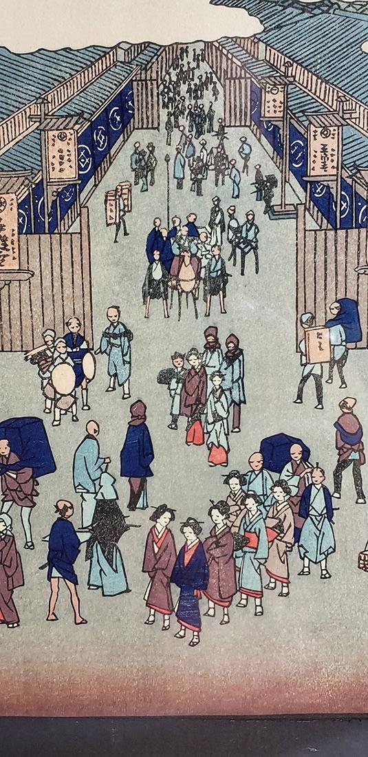 Fine Woodblock by Ando Hiroshige (Japanese, 1797-1858) - 10