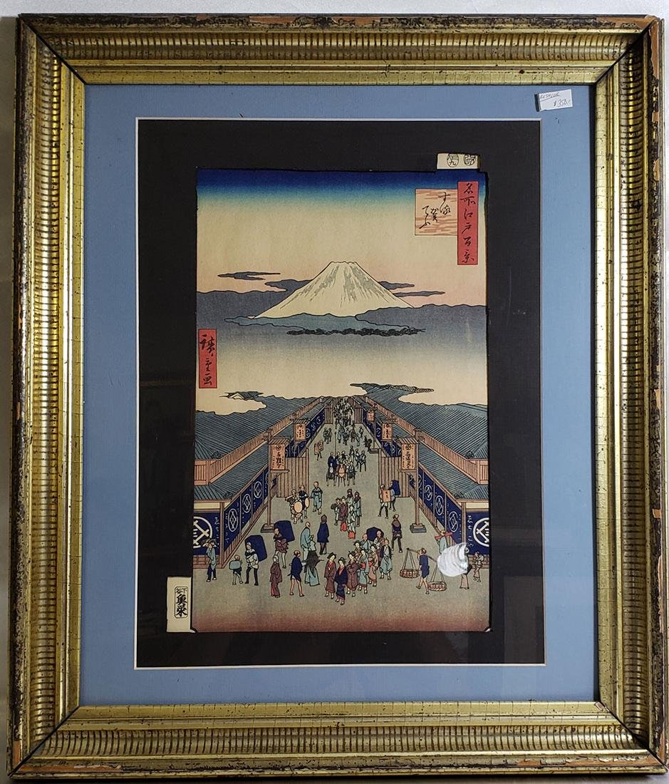Fine Woodblock by Ando Hiroshige (Japanese, 1797-1858)