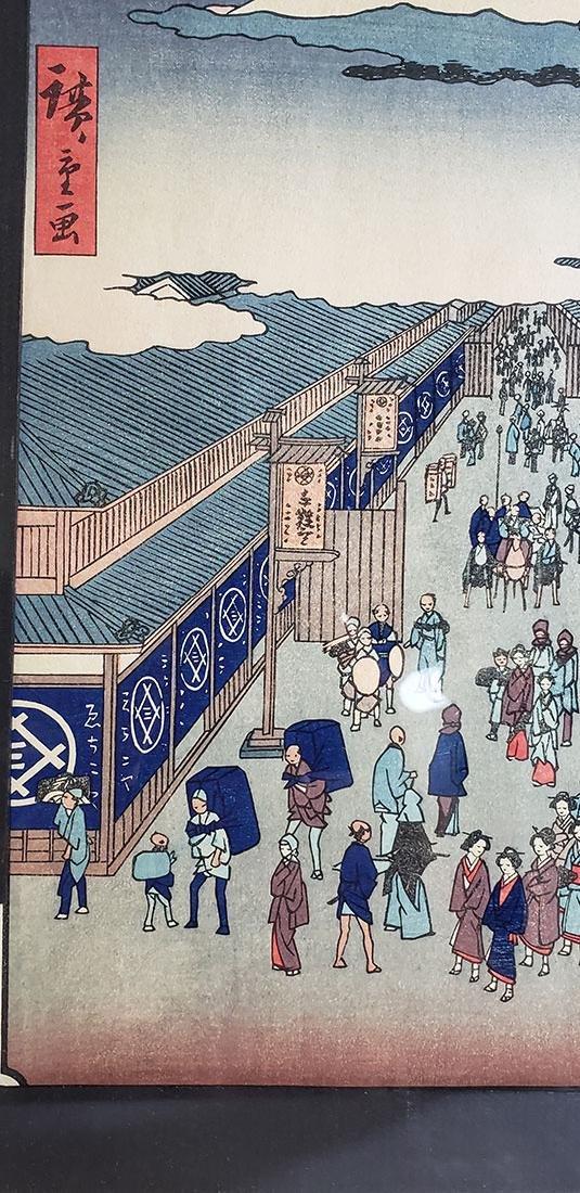 Fine Woodblock by Ando Hiroshige (Japanese, 1797-1858) - 4